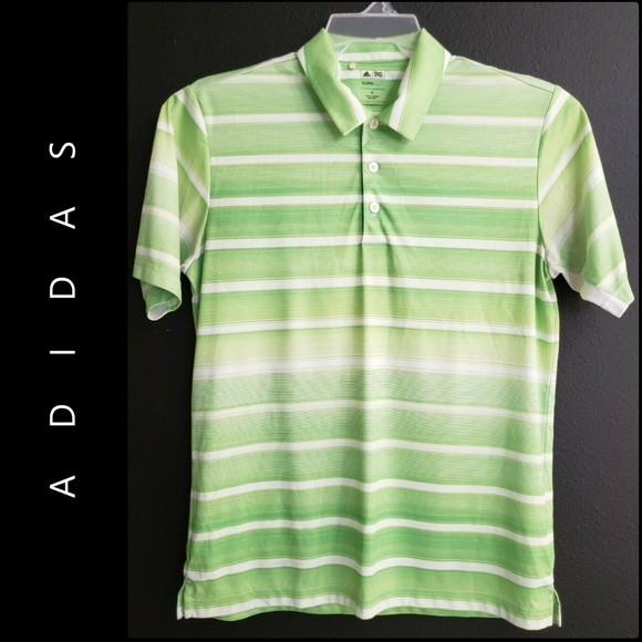 adidas Other - Adidas Men's Clima Cool Short Sleeve Stripe Polo
